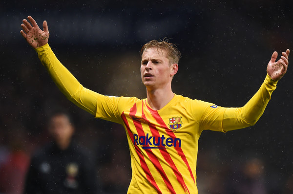 Football latest news-frankie de jong in barcelona away kit