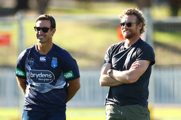 Cricket news of australia-simon baker with nsw blues assistant coach watching the training session