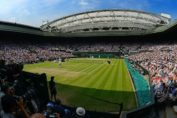 wimbledon 2020-wimbledon tennis court with players and spectators