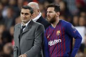 la liga news-messi with ernesto valverde in la liga match