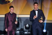 messi and ronaldo-messi and ronaldo in fifa ballon d'or ceremony