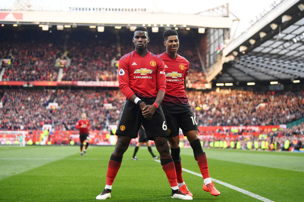 pogba news-rashford and pogba in red united jersey