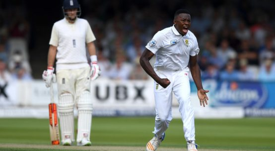 south africa cricket-south african fast bowler rabada celebrating after taking wicket