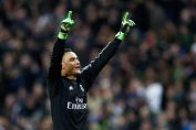 keylor navas-keylor navas in black real madrid jersey