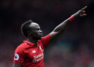 rb leipzig-sadio mane in liverpool red jersey