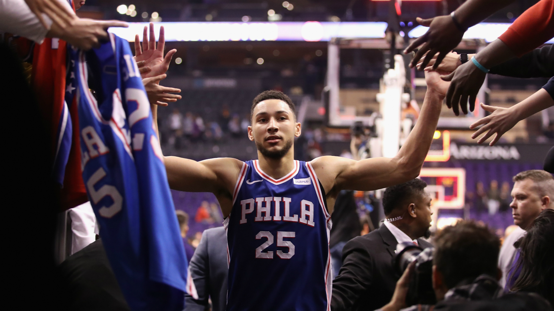 ben simmons position-ben simmons in blue philadelphia 76ers jersey