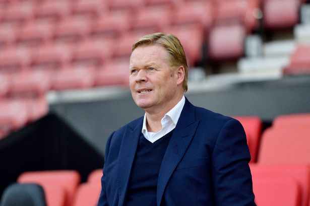 barcelona ronald koeman-ronald koeman in black jacket