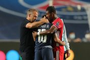 neymar in champions league-alaba and flick consoled neymar