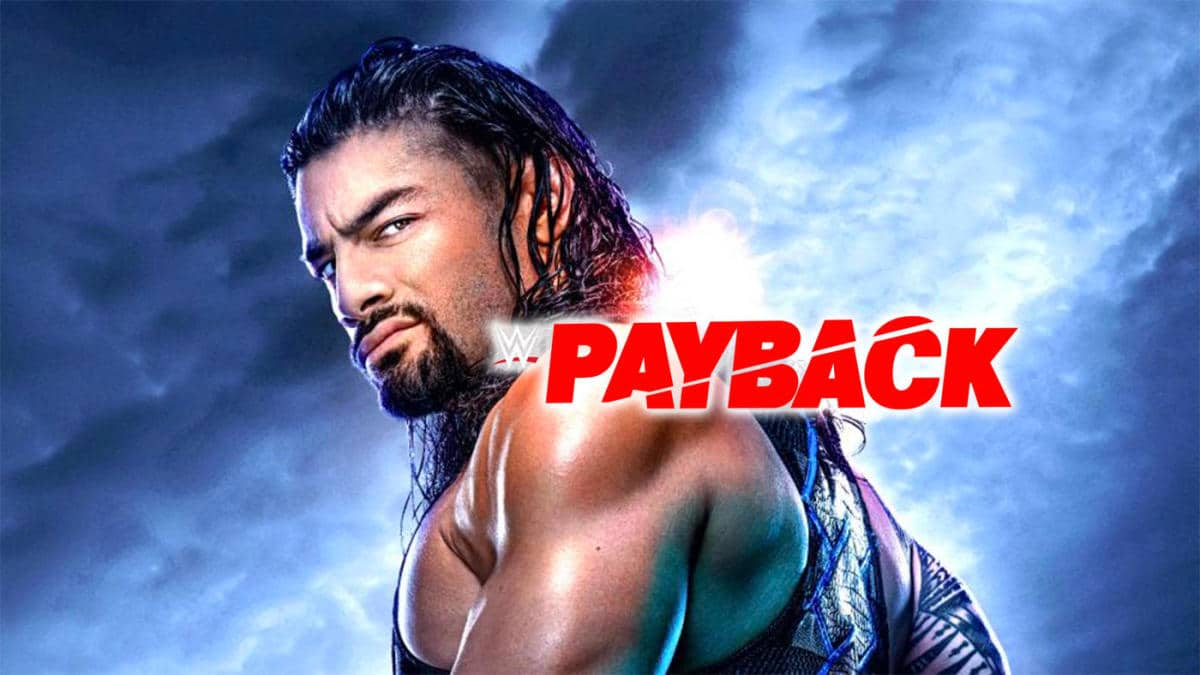 wwe payback 2020-wwe payback logo with reigns wyatt and strowman