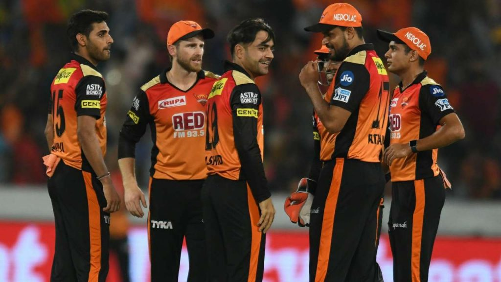 ipl 2020 schedule with squad-sunriser hyderabad team in orange jersey