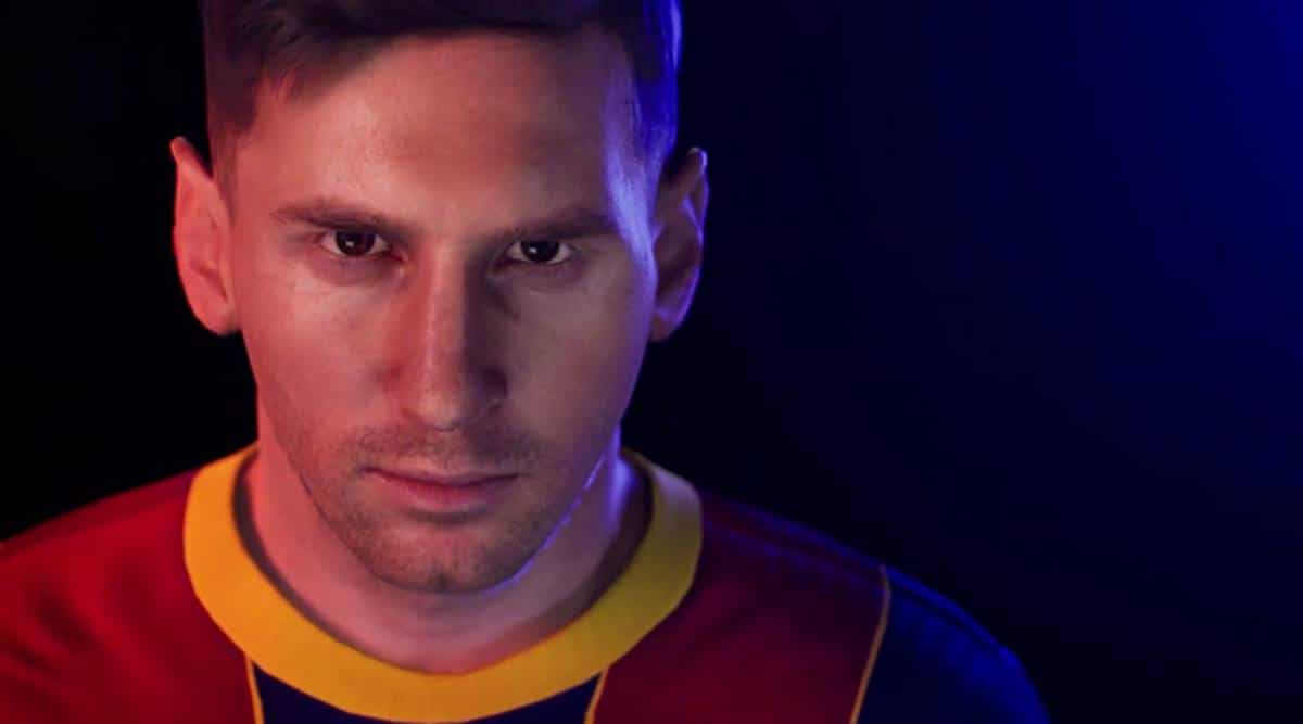 pes 2021 best strikers- messi and ronaldo in their respective jersey