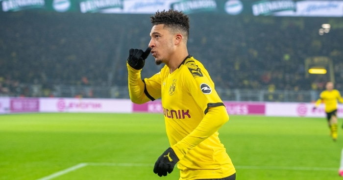 manchester united transfer sancho-Jadon sancho in yellow dortmund jersey