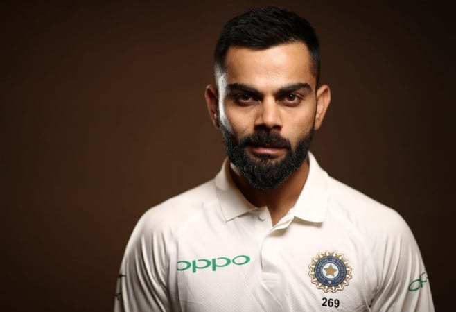 greatest cricket batsmen of all time- virat kohli in white indian jersey