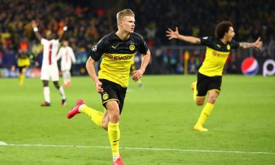 fastest football player in the world- erling haland in yellow dortmund jersey