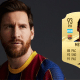 fifa 21 best strikers - lionel messi with fifa rating