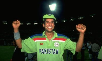Best fast bowlers of all time- wasim akram is pakistan green jersey with cap