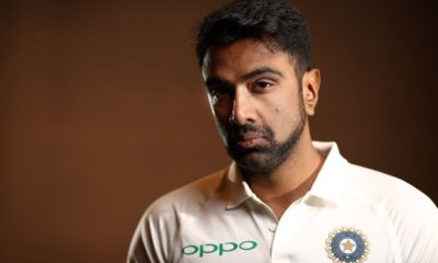 top 10 off spinners of all time- ravi ashwin in white jersey