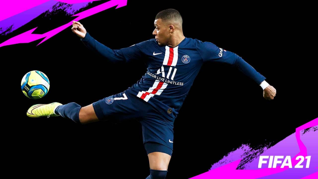 FIFA 21 best strikers Ultimate Team- kylian mbappe in psg jersey kicking the ball