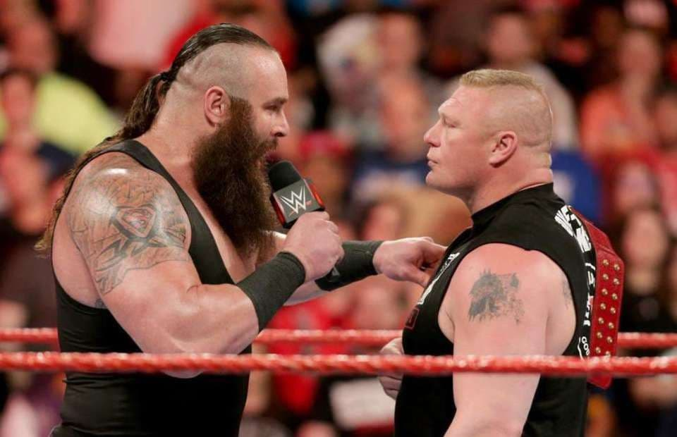 top 10 strongest wwe wrestlers 2021- brock lesnar and braun strowman